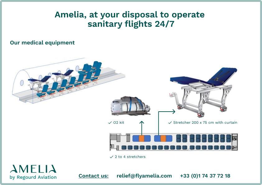 avions amelia pour vols sanitaires